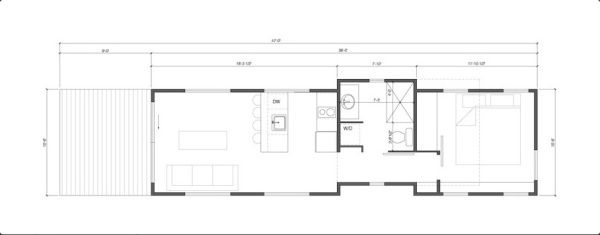 Tiny House Talk - Small Spaces More Freedom   The Wedge 400 Sq. Ft. Cabin by Wheelhaus   http://tinyhousetalk.com