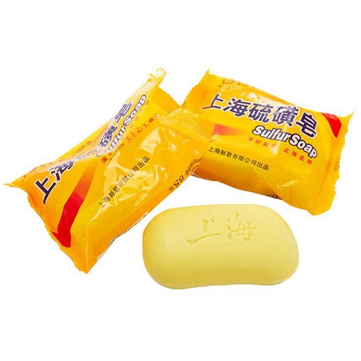 90 g Shanghai soufre savon 4 peau Conditions acné Psoriasis séborrhée eczéma Anti Fungus parfum beurre Bubble Bath savons santé