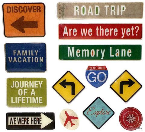"""Стикеры для скрапбукинга """"Дорожные знаки. Путешествие"""""""