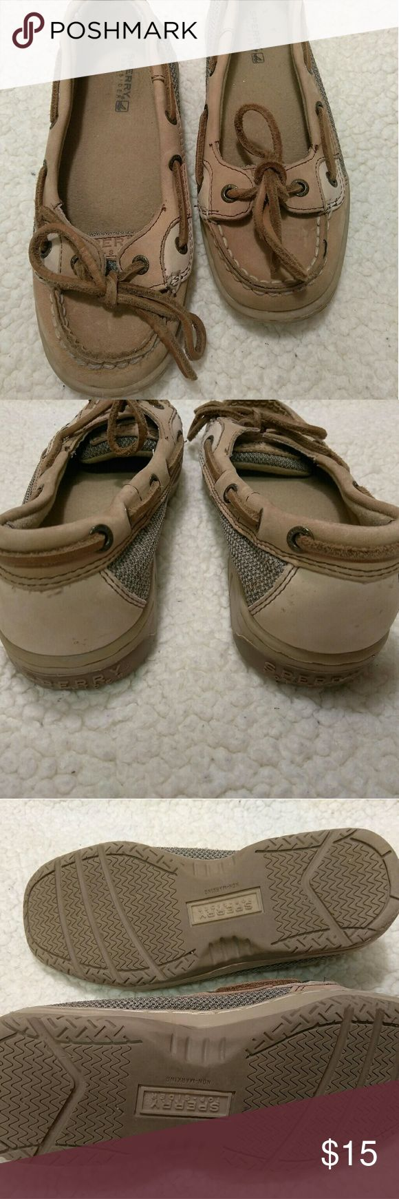 Girls SPERRY TOP SLIDER Really cute shoe with lace tie in front. Good pre loved condition. Sperry Top-Sider Shoes