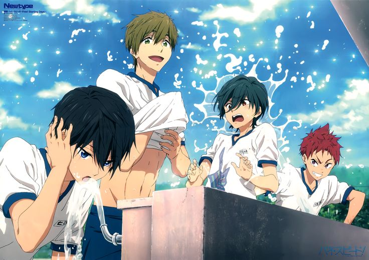 Anime Free!  Haruka Nanase Makoto Tachibana Asahi Shiina Ikuya Kirishima Wallpaper