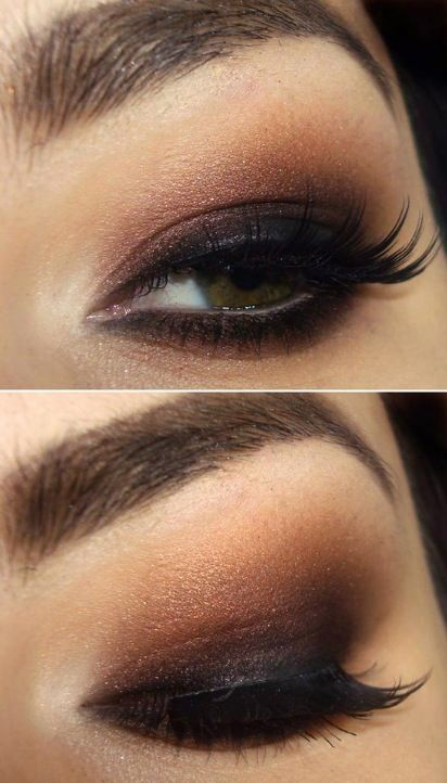 black And brown smokey eyes