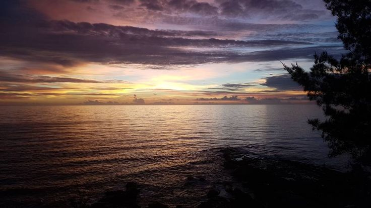 Sunset and Purple Sky can be seen from the Tip Of Borneo, Kudat.