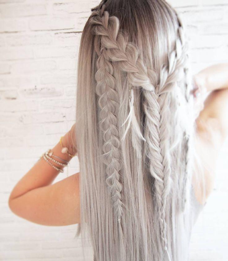 #boho #love #hairart #lovehair #hairselfie #hairstyle #braids #ombrehair #greyhair #fishtail #braid #braidideas #hairblogger #hairblog #hairstylist #hairfashion #festivalhair #warkocze #dlugiewlosy #ombre #blogowlosach #fryzury #krokpokroku