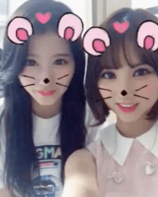 gfriend's eunha and twice's sana; why are yall so fucking cute please stop i cant take it anymore
