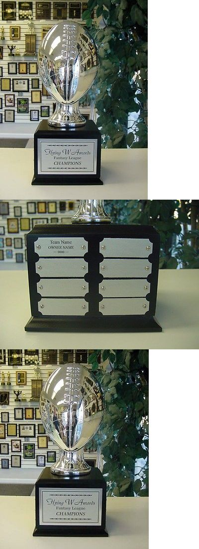 Other Football 2024: Fantasy Football Perpetual Trophy 16 Years Silver On Black Cube Sleek! -> BUY IT NOW ONLY: $169.2 on eBay!