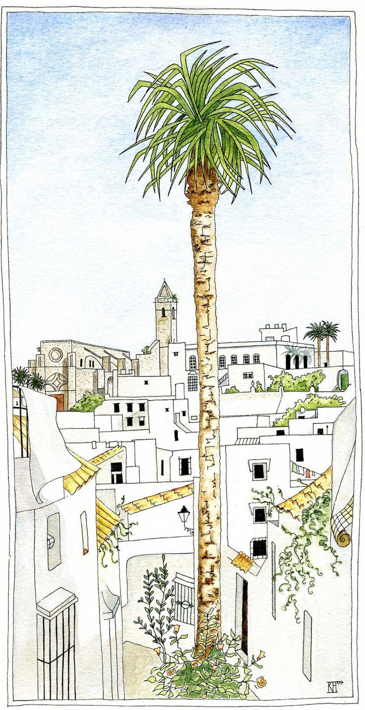 katharte: La Palmera Alta de Vejer, The Tall Palm of Vejer
