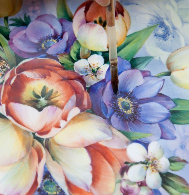 "Wall plaque ""Flower symphony"", 40 x 40 cm"