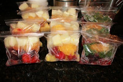 Prepared Smoothie Bags (Fast on the go!): Food Recipes, Real Housewives, Freeze Ahead Smoothie, Freezers Ready, Green Smoothie, Drinks Smoothie, Frozen Smoothie, Blend Smoothie, Food Drinks