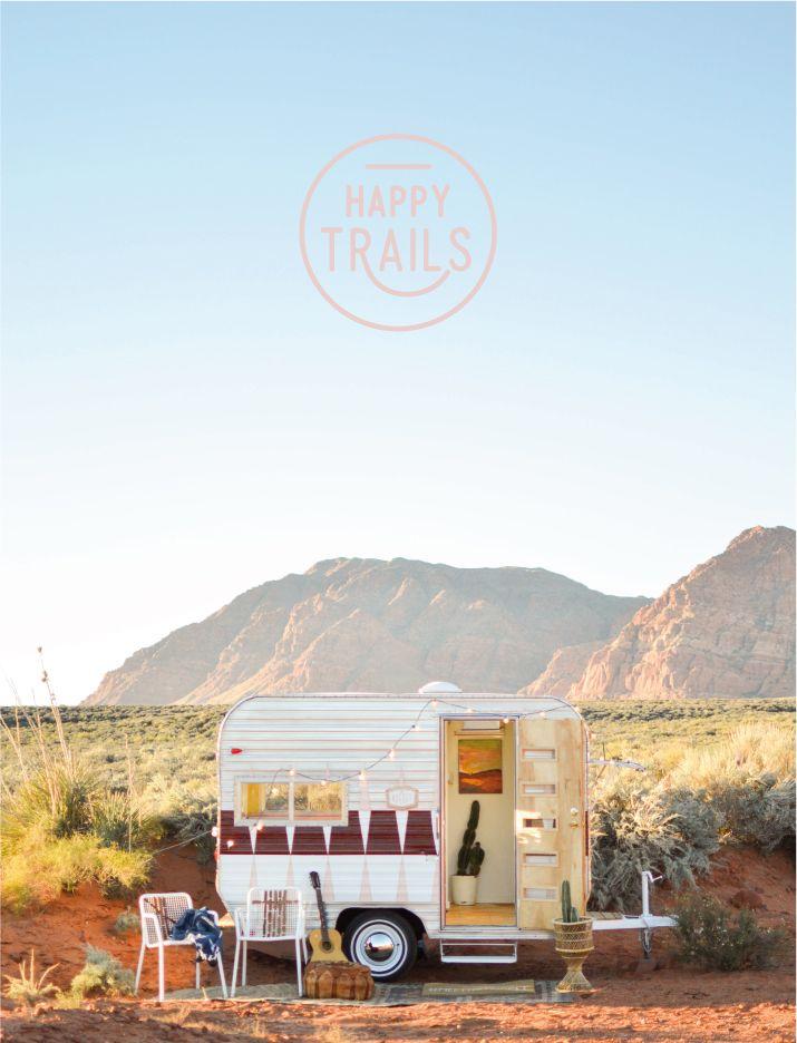The cutest vintage camper trailer makeover that you've ever seen!!