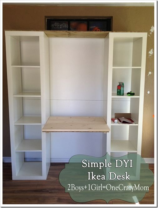 Build a desk out of Ikea Expedite units #DYI project