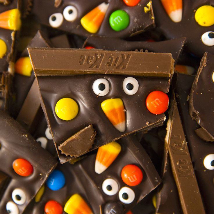 Fun and delicious Halloween Chocolate Bark is one …