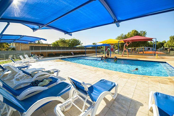 Solar heated pool, toddlers swimming area and water play area