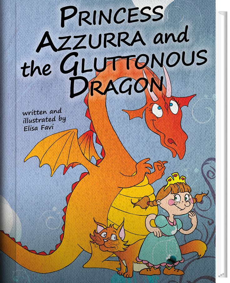http://www.workoncolor.com/english-project/  Princess Azzurra and the Gluttonous Dragon - Illustrated book for children FREE.
