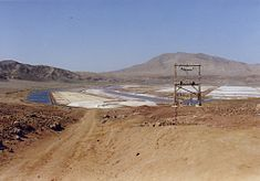Natural salt evaporation ponds at Pedra de Lume, on the island of Sal