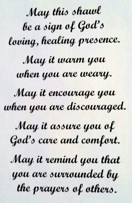Note to attach to prayer shawls
