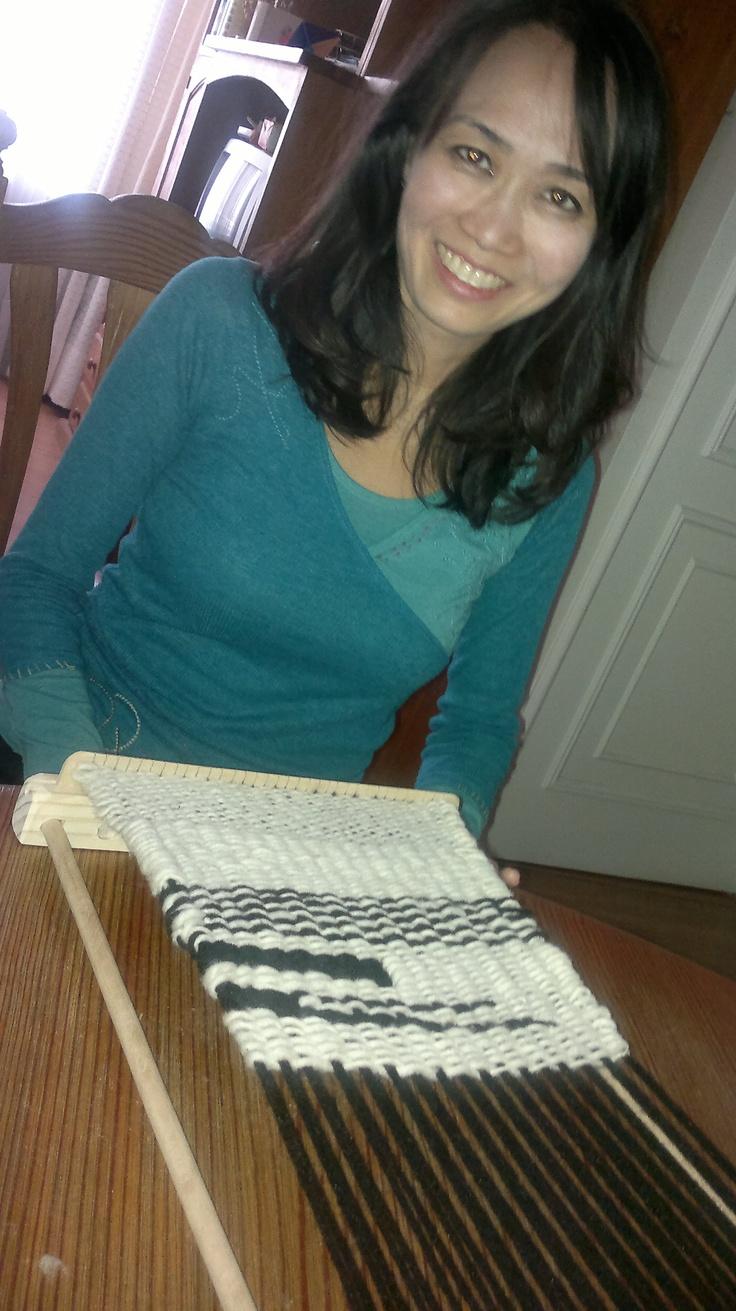 Telar creado en seminario intensivo  por mi alumna  Mariko Hanada  en www.lanaterapia.com arte textil  FELICITACIONES MARIKO