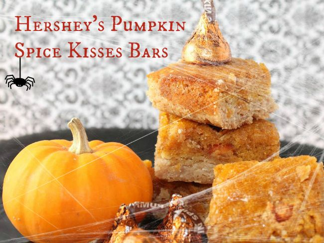 Hershey's Pumpkin Spice Kisses Bars ... perfect for fall and Halloween parties!Bar Recipe, Pumpkin Spice