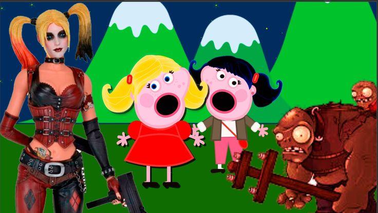 Пеппа Мультфильм Пеппа он поцеловал ее 7-я серия а Харли Квин избила