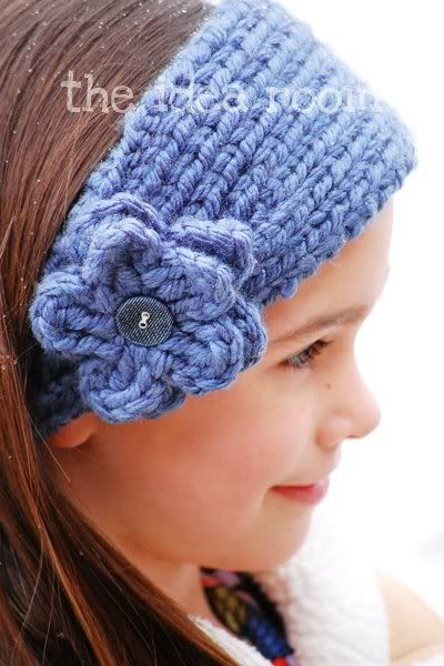 Free Crochet Pattern Headband Ear Warmer Button : ear warmer knitting pattern If I ever learn to sew ...