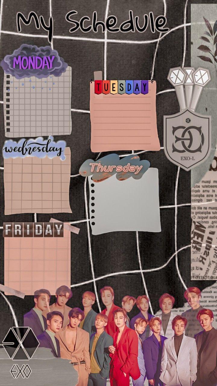 Schedule Template Exo Kartu Nama Bisnis Poster Kelas Desain Pamflet