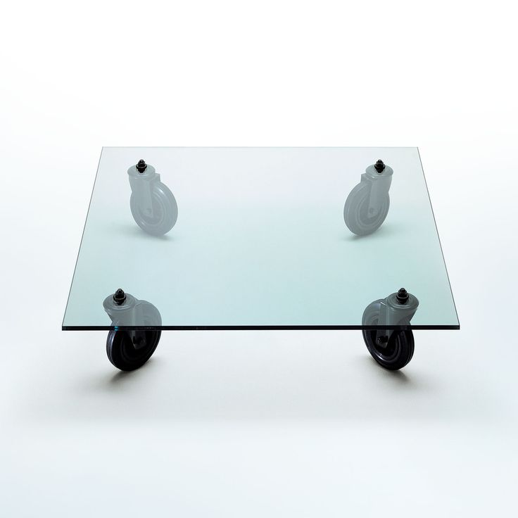 Tavolino con ruote, Gae Aulenti, FontanaArte, 1980