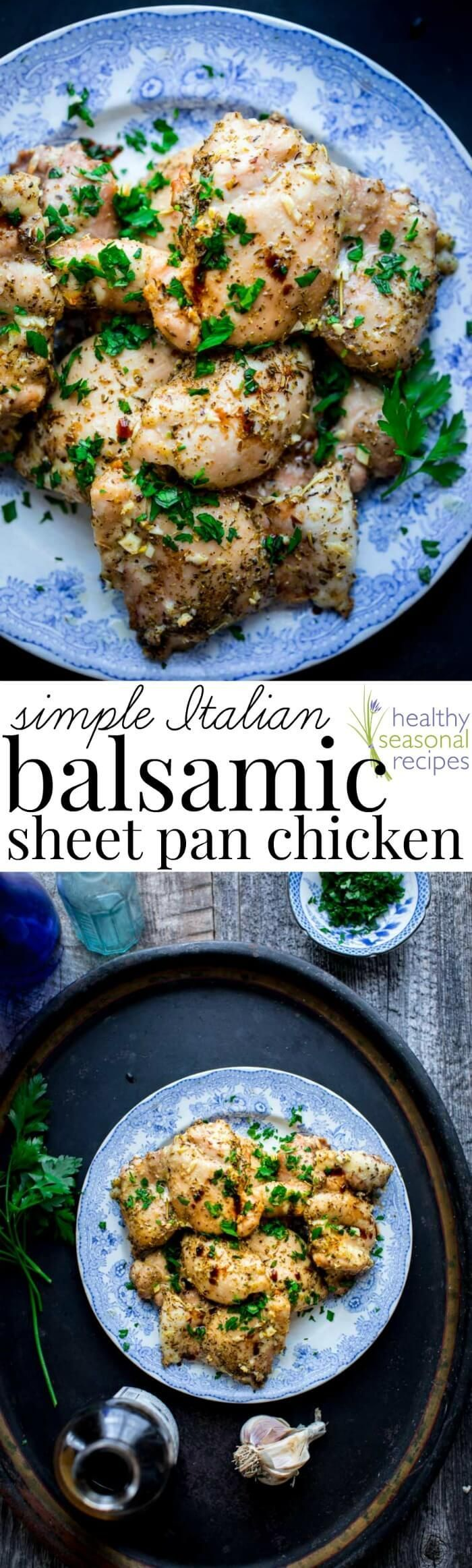 Do you have 5 minutes? Then you have enough time to get a batch of this Simple Italian Balsamic Sheet Pan Chicken into the oven. I am not exaggerating when I say the hardest part of the whole recipe is chopping one clove of garlic. And people, I know we can do that, even on …