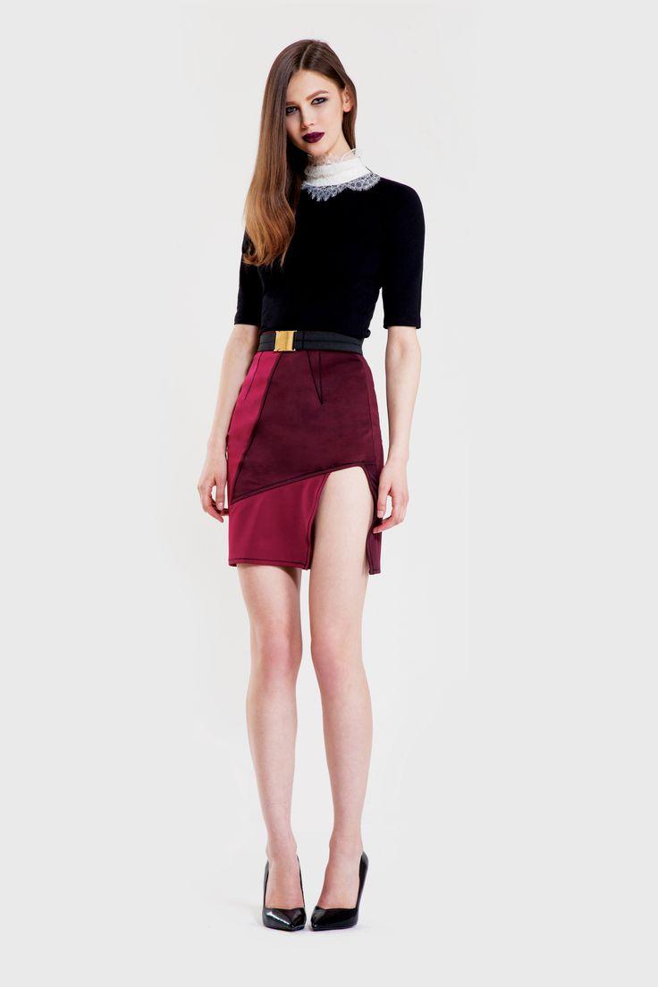 Glacial blouse/ Rift skirt/ Tinsel belt www.murmurstore.com