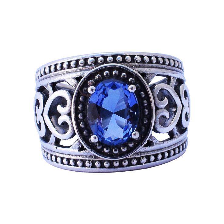 synthetic tanzanite ring