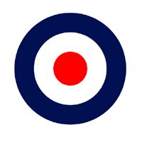 The Who logo synonymous with the Mod sub-culture. Mods enjoyed sharp fashion, scooters, modern jazz & British R & B bands.