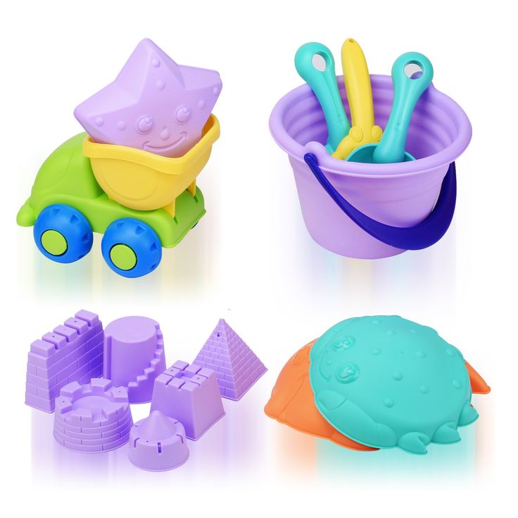 QuadPro Toddler Beach Toys Set Sand Toys for Kids, 14-Piece Inclued Sand Buckets, Dump truck, Shovels, Rakes, Spoons, Fish, Crabs, Starfish and More, Baby STEM Outdoor Sandbox Toys for Boys and Girls. 【BIG FUN】The beach toys including sand buckets, Dump truck, shovel, rake, spoon, Fish molds, crab molds, starfish molds, 6 different wall molds. Each is a unique design, and kids can play in bathtubs, living rooms, parks, and sandy beaches. 【QUALITY MATERIAL】The sand toys set using soft TPE...