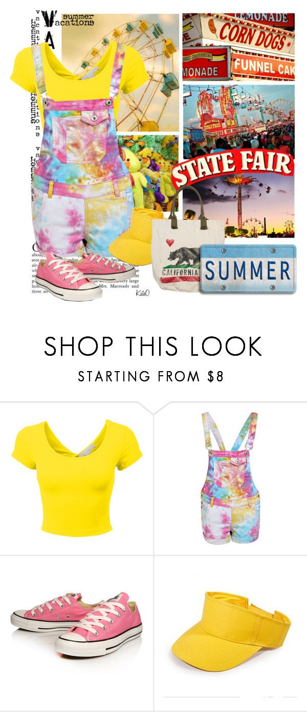 """Ava's State Fair Outfit ~ July 10, 2015"" by kateo ❤ liked on Polyvore featuring Boohoo, Converse, Billabong and 6351"