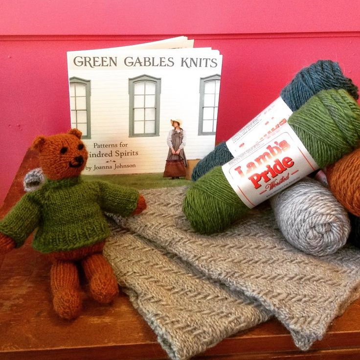 For the next 12 days we will be posting gift ideas to buy or give. Since it was Lucy Maud Montgomery's birthday yesterday we're starting with Green Gable Knits a great gift for any knitter or a source for knitted gifts like this herringbone scarf. All the patterns in the book knit up beautifully in Brown Sheep yarn (like the pictured Lamb's Pride) as does this bear, a free pattern you can find on our Pinterest site.