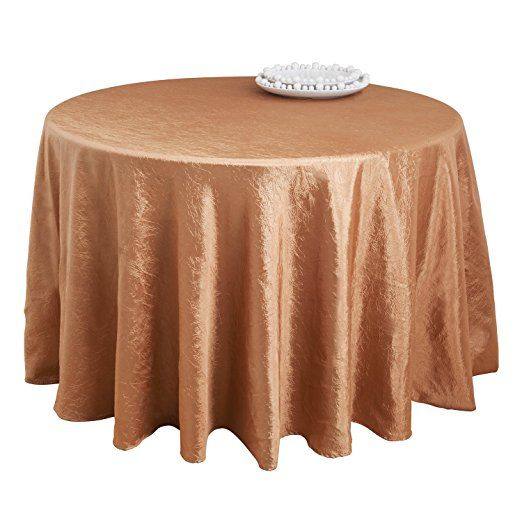 SARO LIFESTYLE LN817 Especial Round Tablecloth Liners, 90 Inch, Copper
