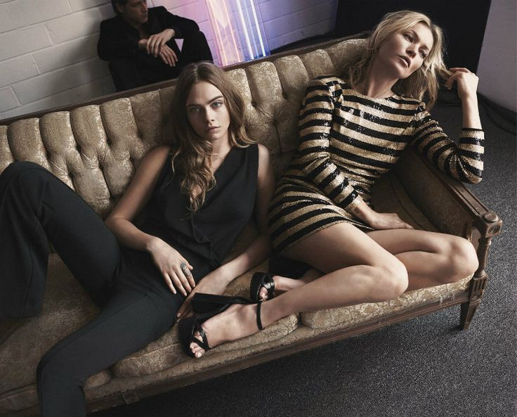 Cara Delevingne and Kate Moss star in Mango Collection