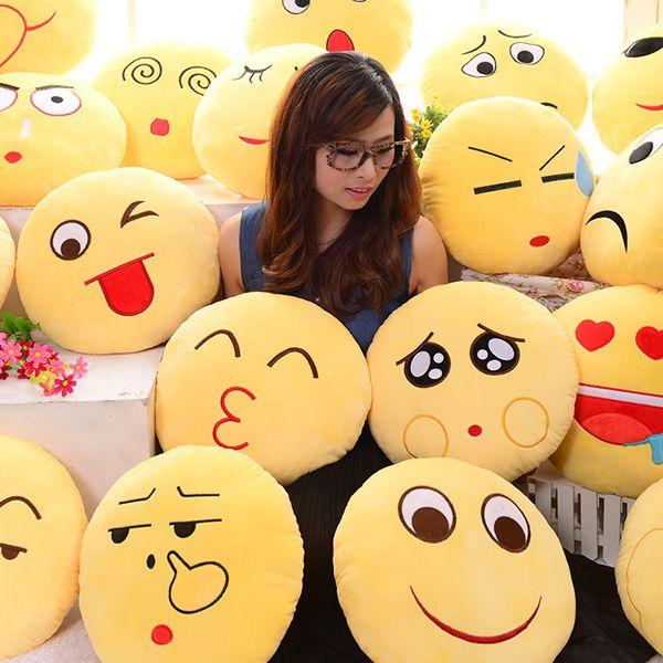 Cute Emoji Expression Throw Pillow Stuffed Plush Sofa Bed
