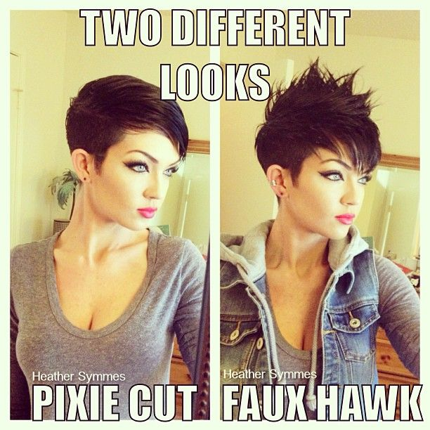 how to do hair style pixie faux hawk sassy and hairstyles 1628