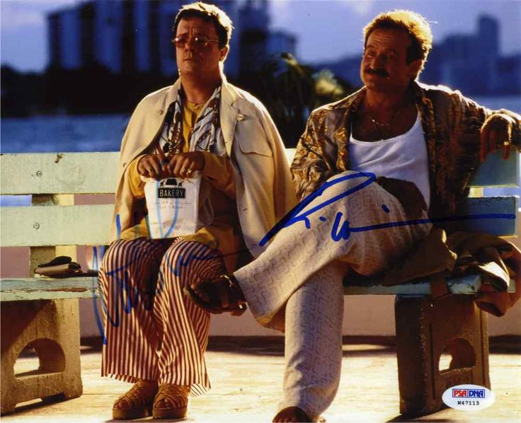 The Birdcage Robin Williams & Nathan Lane Signed 8x10 Photo Certified Authentic PSA/DNA COA