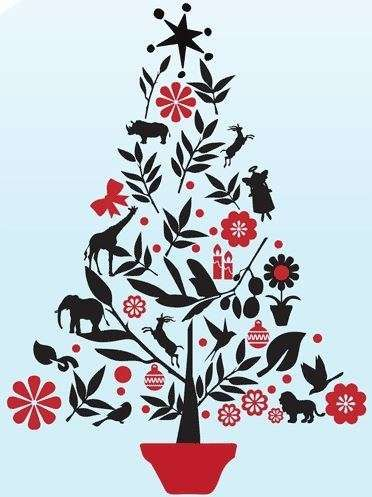 African Christmas tree - love this!
