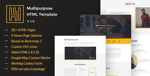 H4 - Modern HTML Template - Creative Site Templates