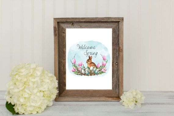 Check out this item in my Etsy shop https://www.etsy.com/ca/listing/515559019/welcome-spring-bunny-art-print