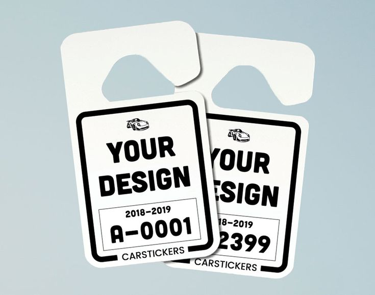 Get durable custom parking permit hang tags for quick parking authentication ow ly