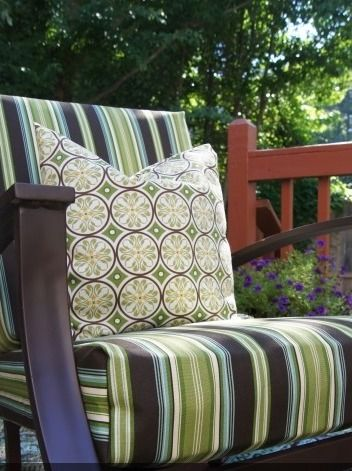 Decorate your patio with these easy, no-sew outdoor chair cushions.