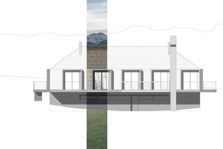 casa in montagna | partial render