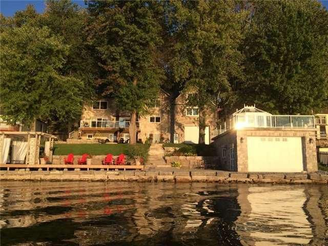 Beautiful Custom Built Stone Raised Bungalow. Considered One Of The Best Shorelines On The Lake.Prime Waterfront Has Sandy Bottom, Perfect For Swimming.