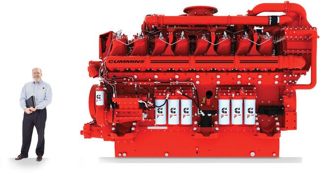 Cummins QSK95.  4,000 Hp. Made for offshore drilling.