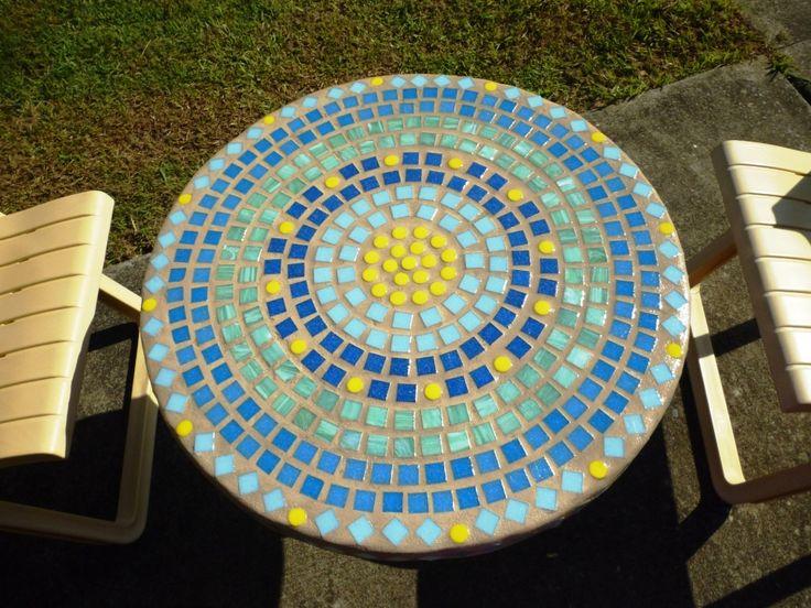 An outdoor table.