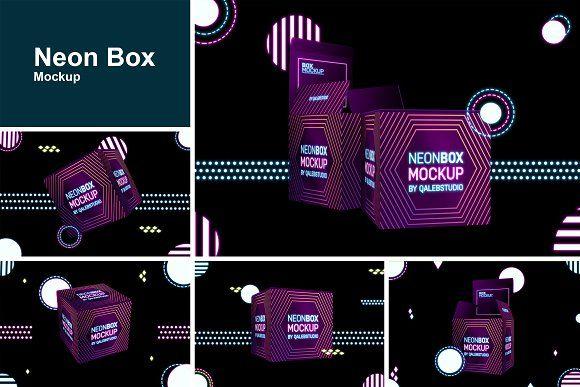 Download Neon Box Mockup Neon Box Box Mockup Neon