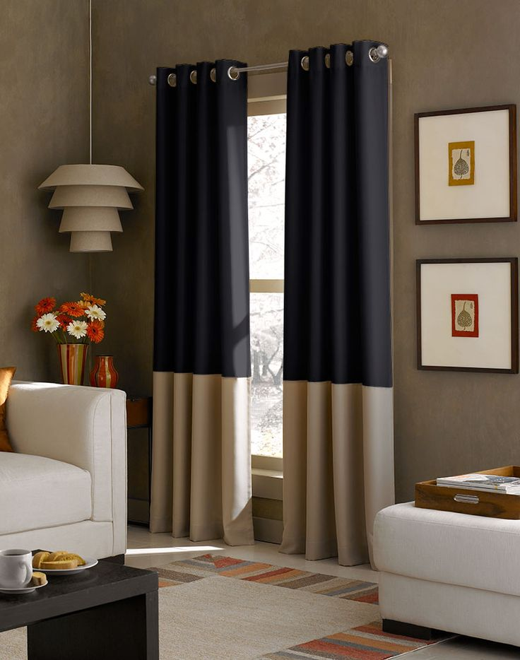 Kendall Color Block Grommet Curtain Panel / Curtainworks.com