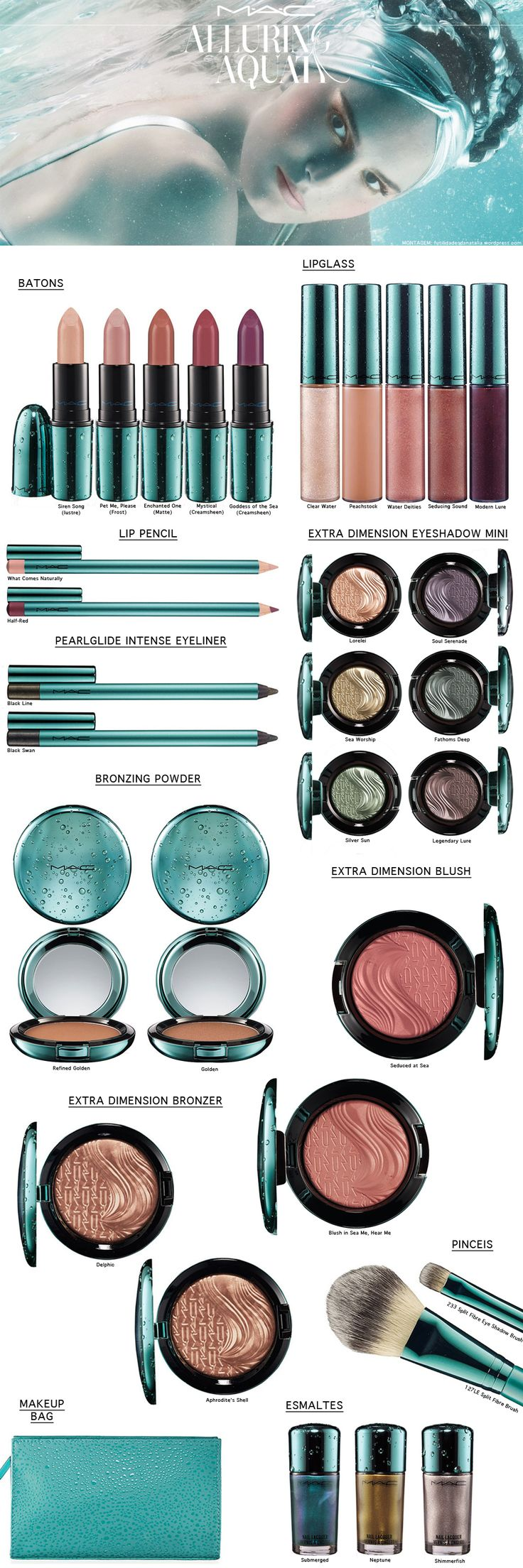 MAC ALLURING AQUA COLLECTION - omg, mermaid makeup!!